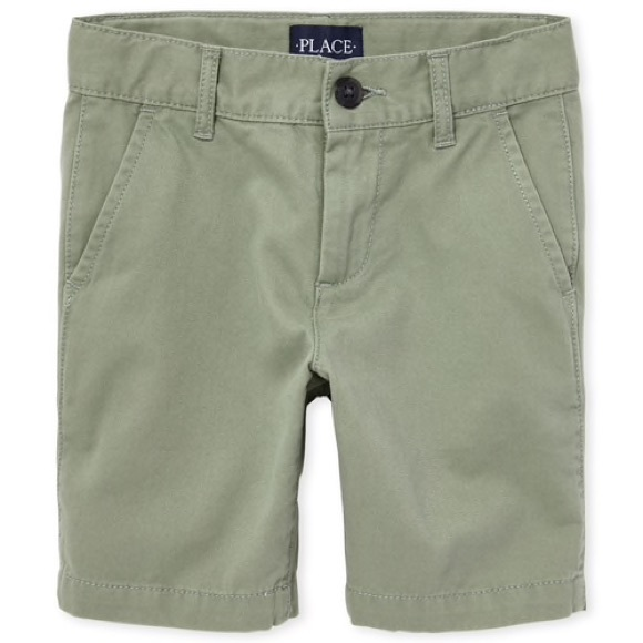 Children's Place Other - Boy's Olive Green Chino Shorts 8